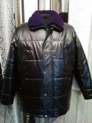 Продаю кожаный пуховик мужской, эксклюзивная дизайн-вещь