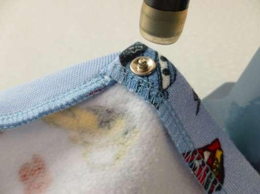Установка кнопок на одежду и кожгалантерею