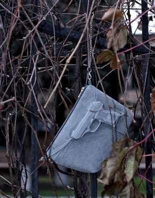 Дизайнерская сумка клатч из замши
