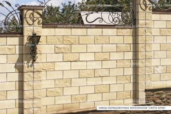 Полублок декоративный угловой полнотелый (заборный) «Силта-Брик»