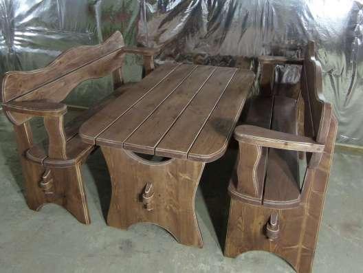 Стол с лавками для сада, или бани в Мурманске Фото 1
