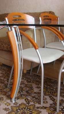 Продам стол со стеклянной столешницей и стулья в Томске Фото 3