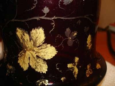графин цв.стекла(рубин с пурпуром)ИСЗ,18