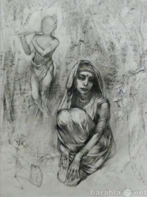 """70г рисунок автор. """"Индийская девоч"""