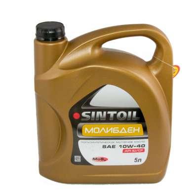 Масло моторное SINTOIL Молибден 10W40 п/синтетика 5литров