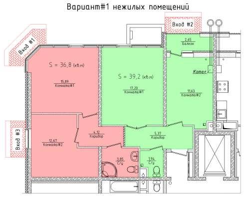 Помещение свободного назначения 71.2 м²