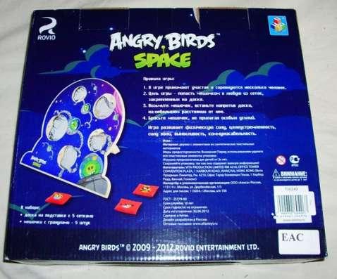 Деревянная игра с мишенями Angry Birds