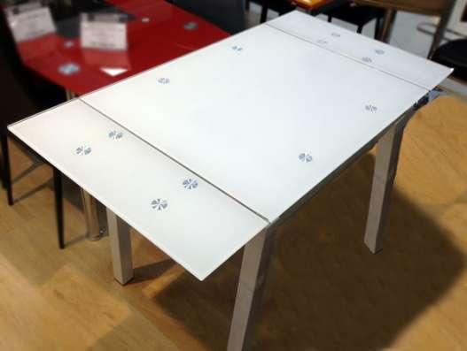 Стеклянный раздвижной стол Анжелика Китай А1726 в Москве Фото 1