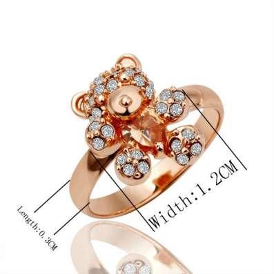 Кольцо (покрытие - розовое золото) в Перми Фото 5