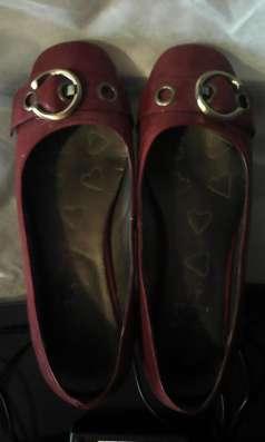 Туфли-балетки лакированные, красные, очень красивые, р. 38 в Москве Фото 1