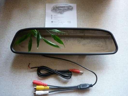 Зеркало-монитор 4.3 дюйма для камер заднего/переднего вида