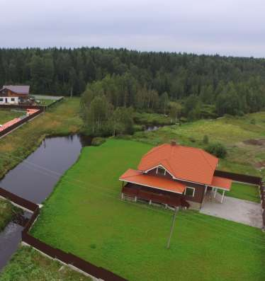 Коттедж 300 м. кв. на участке 42 сотки в деревне Дранишники