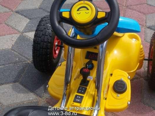 Детский электромобиль, картинг. На резиновых колесах